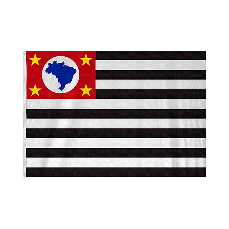 Bandeira Fjog Paulista 1,35X1,93 Cor: COR UNICA - Tam: UN