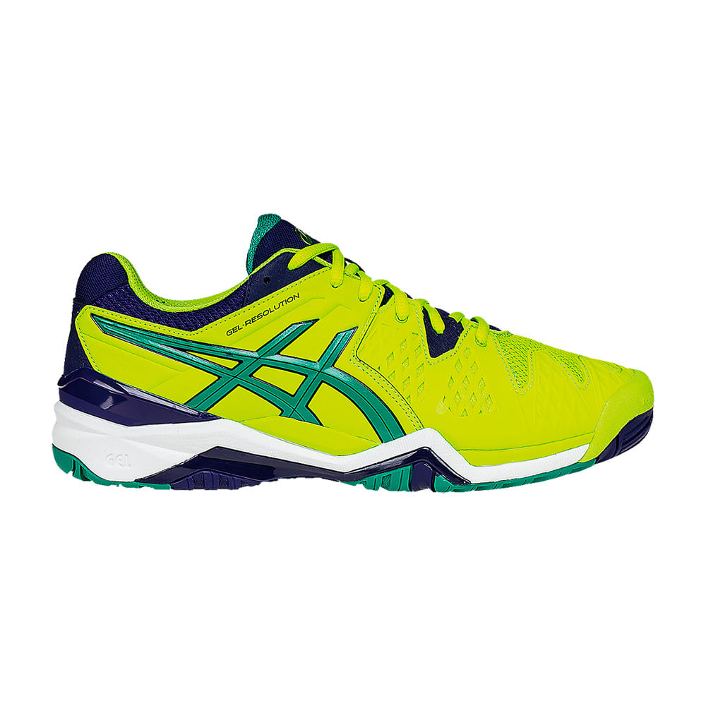 Tenis Tennis Asics Gel - Resolution 6 Cor: LIMAO / MAR / VDE - Tam: 43