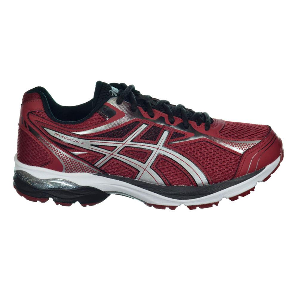Tênis Running Asics Gel - Equation 9 Cor: VINHO / PRATA / PTO - Tam: 41