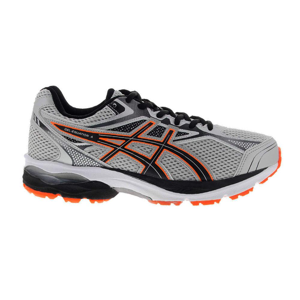 Tênis Running Asics Gel - Equation 9 Cor: PRATA / PTO / LAR - Tam: 40
