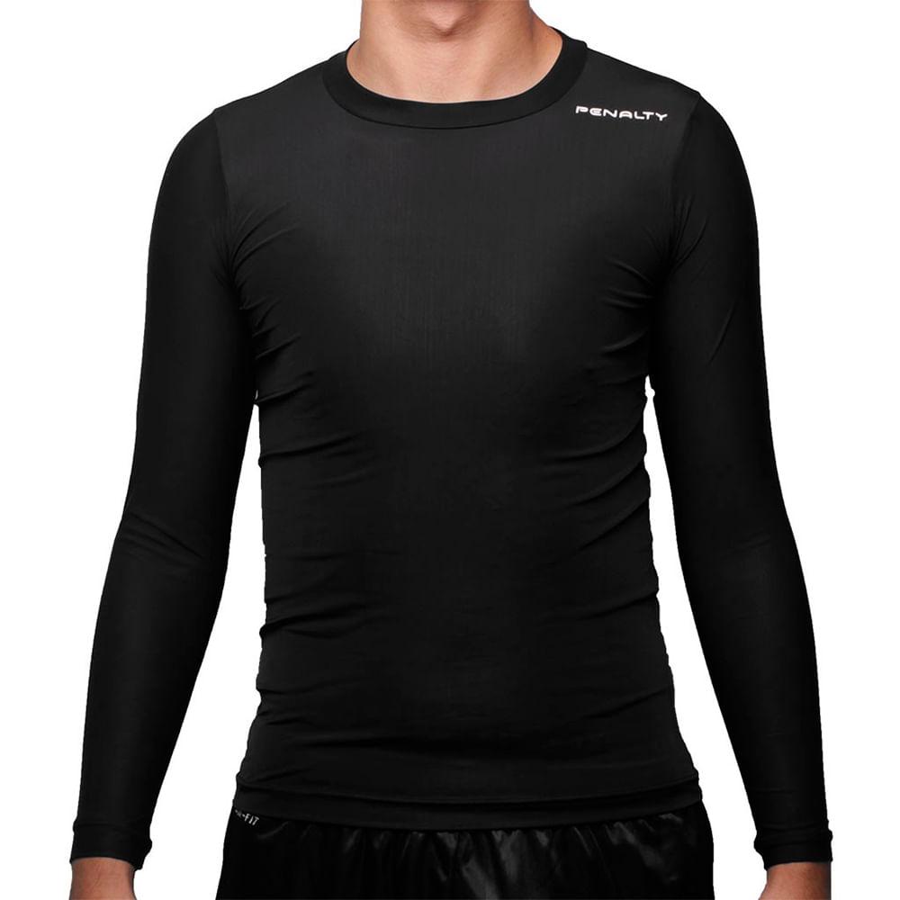 Camiseta Penalty Térmica Matis Manga Longa Cor: PTO - Tam: G