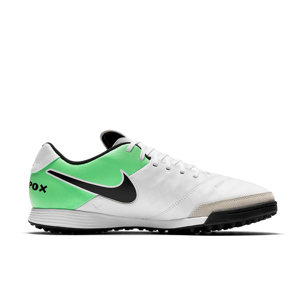 Chuteira Futebol Society Nike Tiempox Gênio Ii Cor: BCO / VDE - 103 - Tam: 43