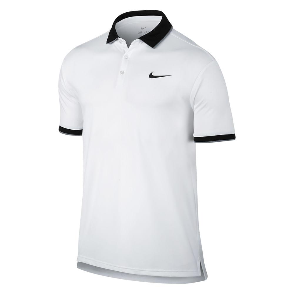 Camiseta Polo Tênis Nike Court Dry Team Cor: BCO - Tam: G