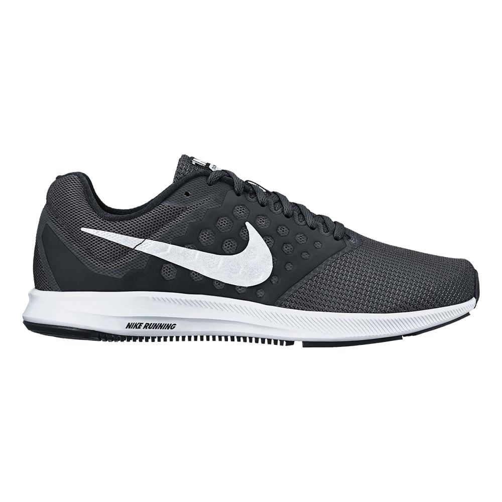 Tênis Running Nike Downshifter 7 Feminino Cor: PTO / BCO - 010 - Tam: 35