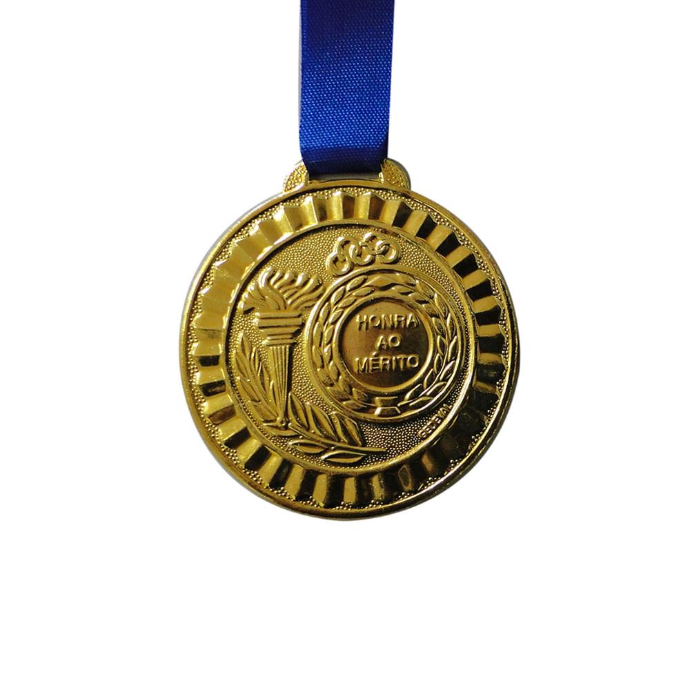 Medalha Gedeval 35Mm Ouro Com Fita Cor: COR UNICA - Tam: UN