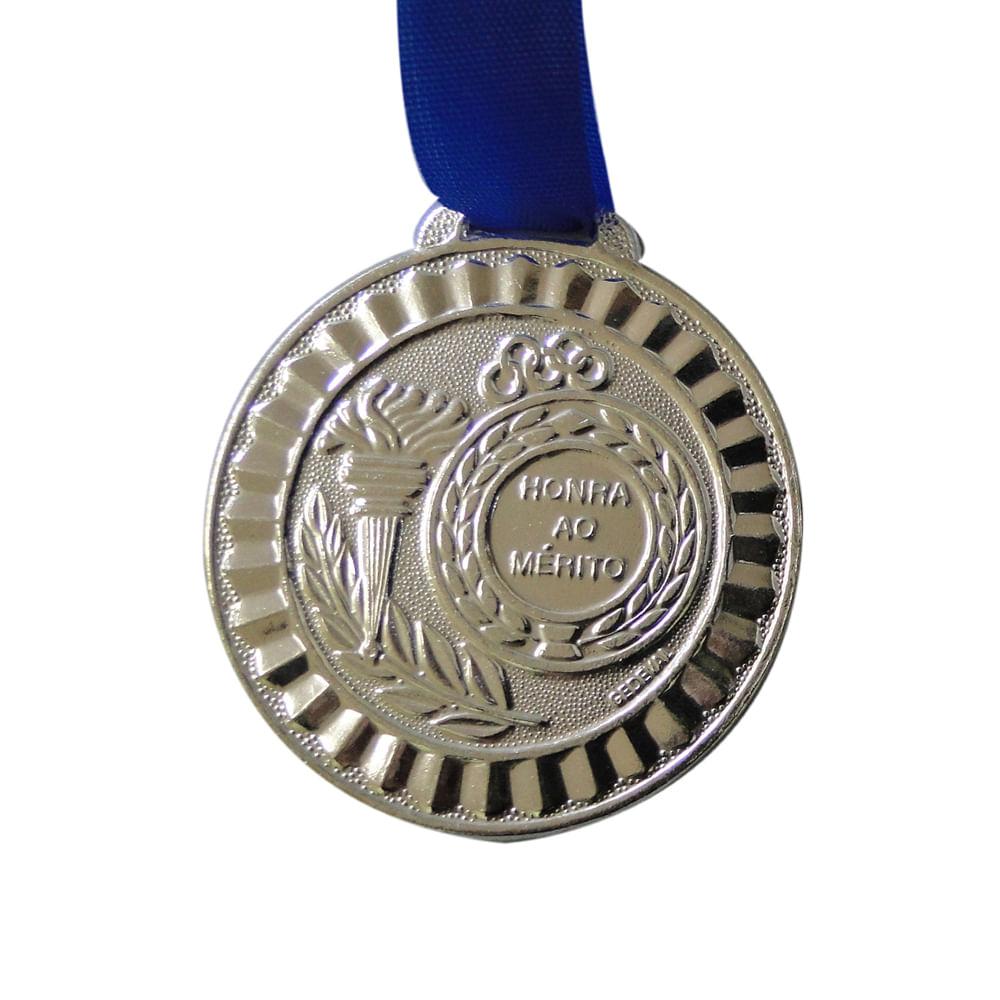 Medalha Gedeval 45Mm Prata Com Fita Cor: COR UNICA - Tam: UN