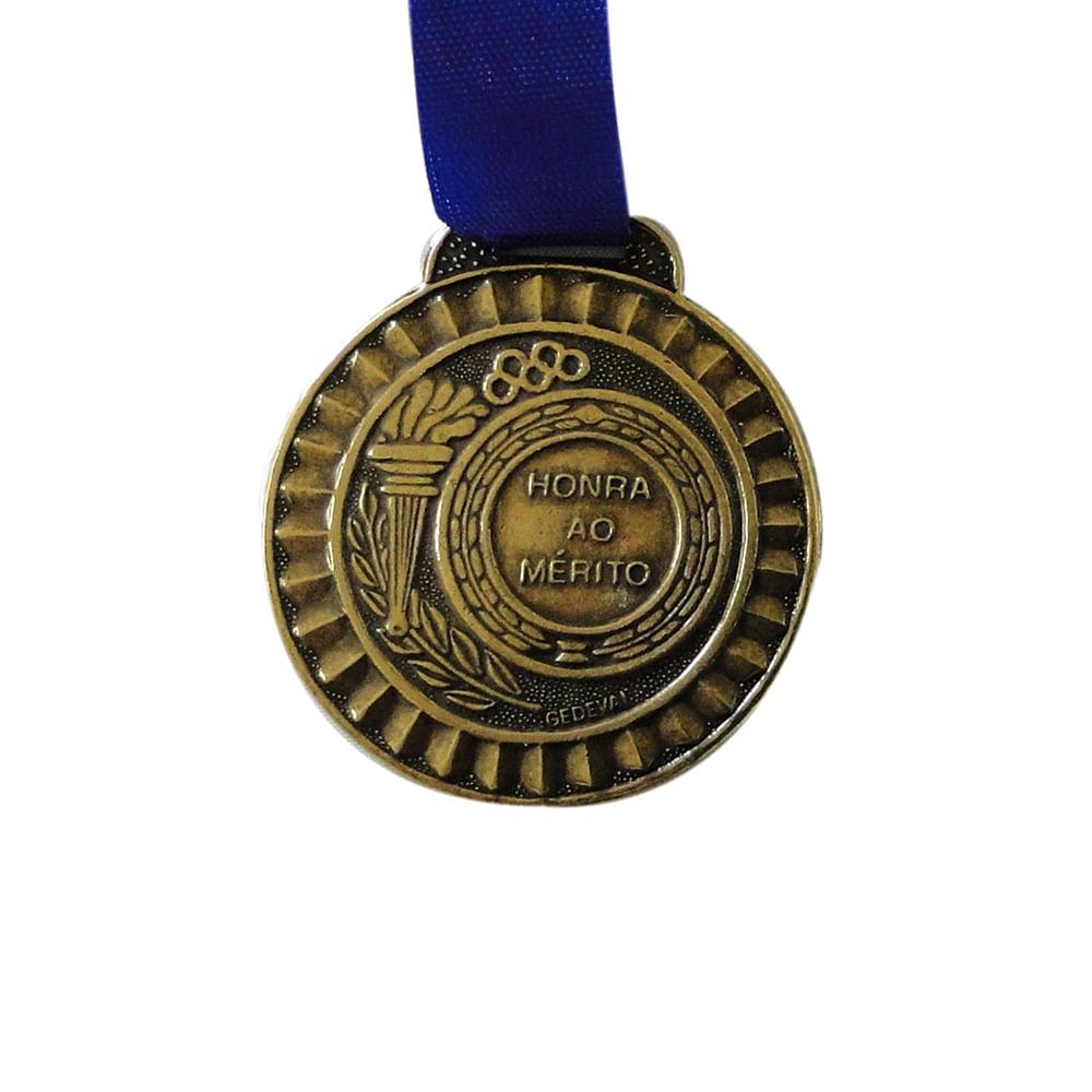 Medalha Gedeval 35Mm Bronze Com Fita 03 Cor: COR UNICA - Tam: UN