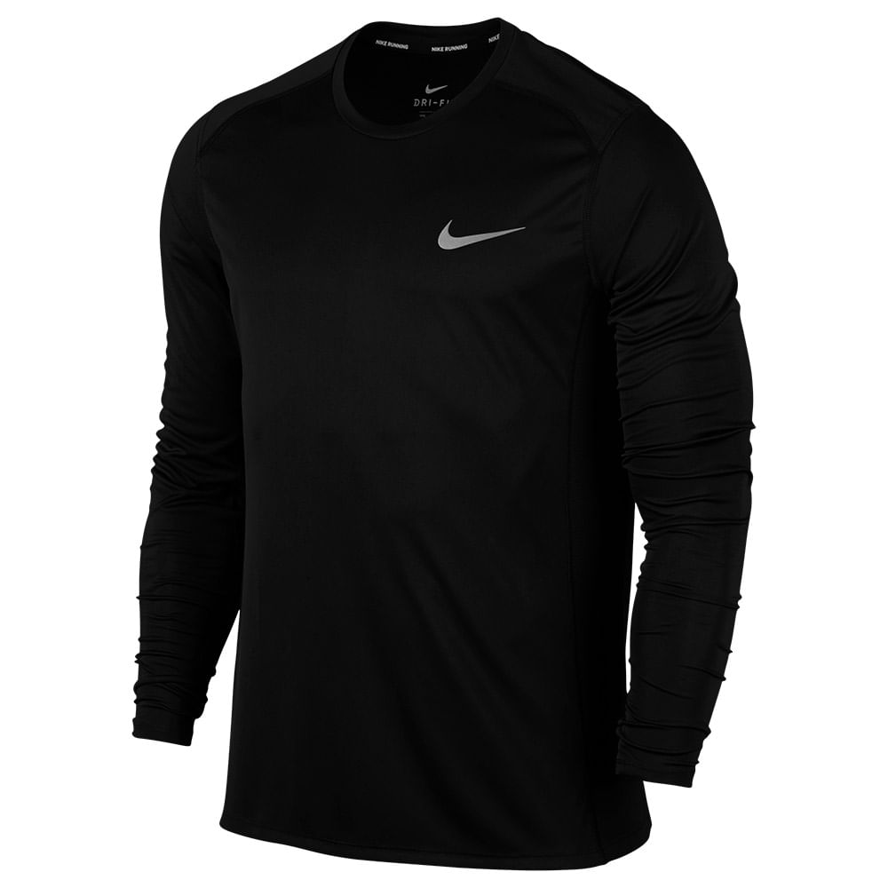 4380e7ec81b Camiseta Nike Dry Miler Ls Manga Longa