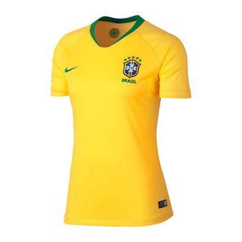 f3cbc5f972f4f CAMISETA FUTEBOL NIKE BREATHE BRASIL CBF STADIUM HOME 2018/2019 FEMININA